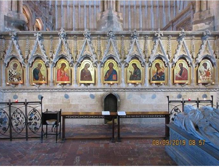 The icons in the Retro-Choir of Winchester Cathedral.