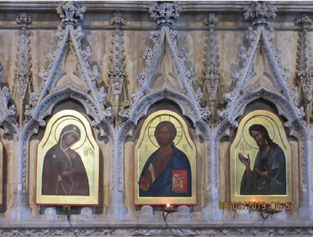 The icons in the Retro-Choir of Winchester Cathedral
