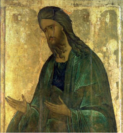 St. John the Baptist, Andrei Rublev 15th century Andrei Rublev Museum, Moscow